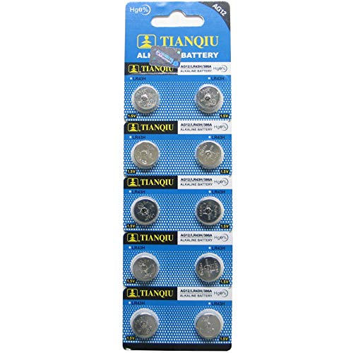 Tianqiu AG12 10Pc Alkaline Button Cell Watch Batteries