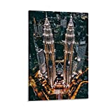 Nachthimmel Fotografie von Kuala Lumpur, Malaysia-Poster,
