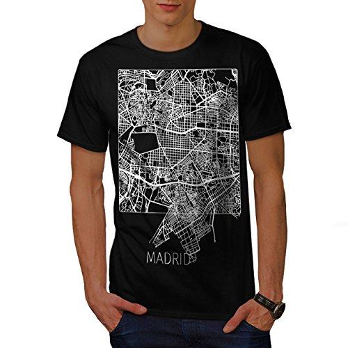 wellcoda Spagna Città Madrid Uomini Maglietta Europa T-Shirt con Stampa Grafica