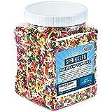 Rainbow Sprinkles Bulk - Rainbow Jimmies in Resealable Container - 1.6 LB Bulk Candy