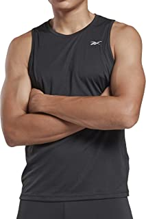 Reebok Men's Re Speedwick Singlet T-Shirt, Black