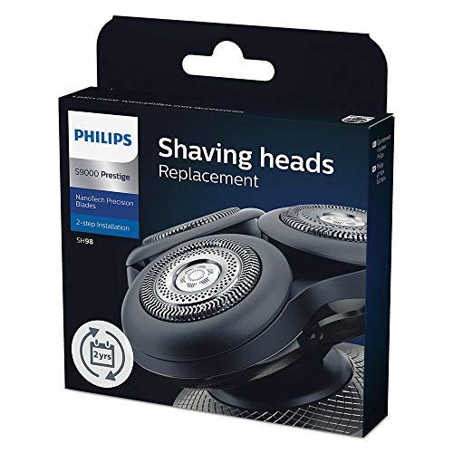 Philips SH98/70 - Pack de 3 cabezales de afeitado de repuesto para Philips Prestige S9000