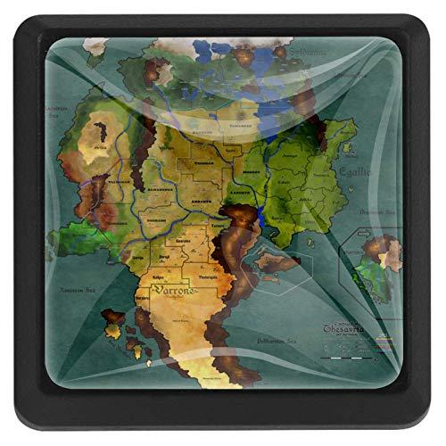 Bennigiry Türknauf mit Spielkartenmotiv, quadratisch, Kristallglas, für Schranktüren, Griffe, ergonomisch, Schubladengriffe, 3 Stück