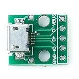 MICRO USB to DIPアダプタ 5ピン メス コネクタPCBコンバータ