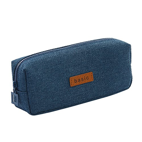 iSuperb Cotton Linen Pencil Case Student Stationery Pouch Bag Office Storage Organizer Coin Pouch Cosmetic Bag