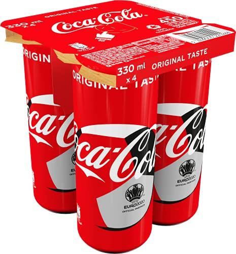 Coca-Cola Original Taste, Lattine - Confezione da 4 x 330 ml