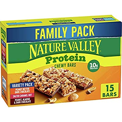 Nature Valley Chewy Granola Bars, Protein Variety Pack, Gluten Free, 21.3 oz, 15 ct