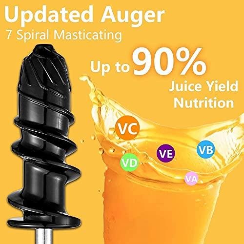 AMZCHEF Juicer Slow Juicer (Creamy-White)