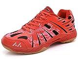 SMXX Chaussures de Badminton Respirantes, Chaussures de Sport en intérieur antidérapantes et Confortables (37 EU, Rouge-9)