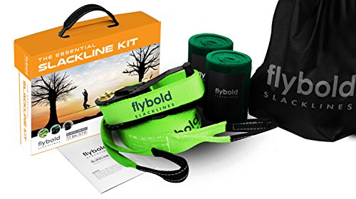 flybold Slackline Kit with Tree Protectors 57 ft Now $28.00 (Was $56.99)