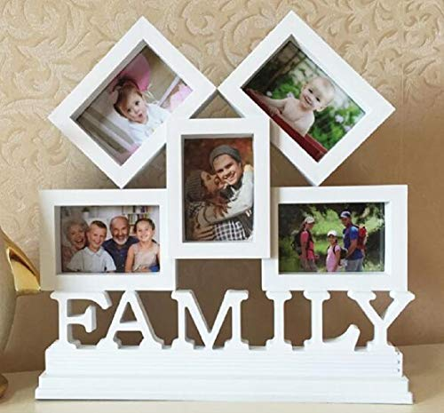 YOUZHI European Style Photo Frame Conjoined 3 Inch Picture Frames, Wedding Creative Family Photo Frame, (26 27CM)