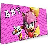 Alfombrilla de ratón Boom-Amy Rose Alfombrilla de ratón para Juegos Suave Ultra Gruesa 3 mm Extendida Grande