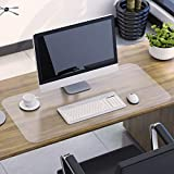 SLYPNOS Multifunctional Clear PVC Desk Protector Pad, 1.5mm Thick 16 x 32 Inch Transparent Desk Mat for Home, Office