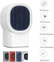 Mini Portátil Calentador De Espacios, 400W Calentador Eléctrico De Aire, Cerámica PTC Calentador Ventilador, Silencioso, Protección De Sobrecalentamiento Y Volcado,Blanco