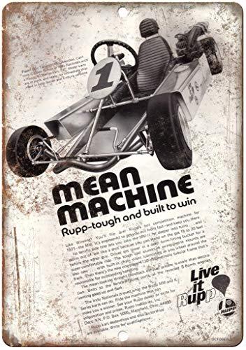 Mean Machine live it rupp Zinn Schild Eisen Gemälde Metall Wand Plakette Poster Zum Bar Kaffee Restaurant Schlafzimmer Garage Verein