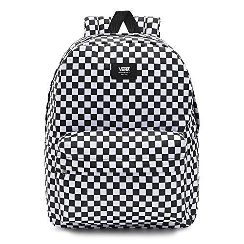 Vans Old Skool Check Backpack, Mochila Unisex Adulto, Blanco Y Negro, Talla única