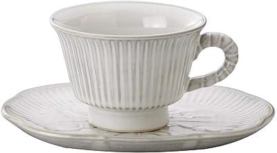 クラフトマンハウス(Craftmanhouse) カップ_ソーサー ホワイト カップH6×φ9cm・皿16×13.5cm