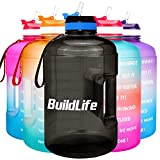 BuildLife Gallon Motivational Water Bottle with Time...