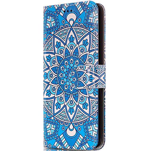 Compatible avec Coque Huawei Mate 10 Lite,Etui Huawei Mate 10 Lite,ikasus Huawei Mate 10 Lite Couleur Étui Housse en Cuir PU Portefeuille Flip Étui Coque TPU pour Huawei Mate 10 Lite Rétro Fleur Totem