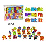 Alphabet Robot Toy Odowalker Action Figures ABC 26 Pieces 2' Letters Toys Alpha Bots Learning Teaching Toy for Everyone.