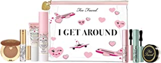 Too Faced Mega-Deluxe Travel Essentials Makeup Kit! 8-Piece Travel Size Complexion, Eye, And Lip Essentials! Plus TSA-Friendly Travel Bag! Perfect For Womens Who Loves To Travel!