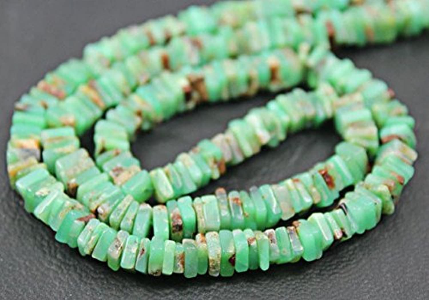 Natural verde Chrysoprase Smooth Heishi Cube Gemstone Loose Craft Beads Stre 8  9.5mm 6mm