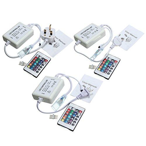 H/A Control Remoto Regulable RGB infrarrojo de 24 Teclas for Tira de LED de 4 Pines 110V-220V MENGN