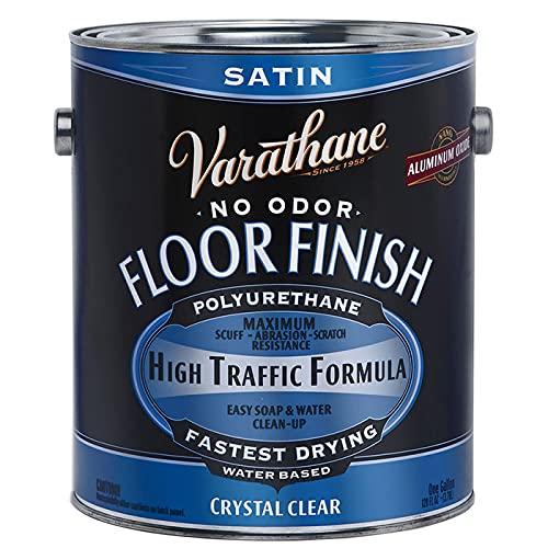 1 gal Rust-Oleum Brands 230231 Clear Varathane, Diamond Water-Based Interior Floor Polyurethane, Satin Pack of 1