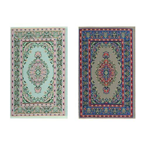 Hellery 2 uppsättningar 12. Golvbeläggning retro turkisk matta stil broderi matta från