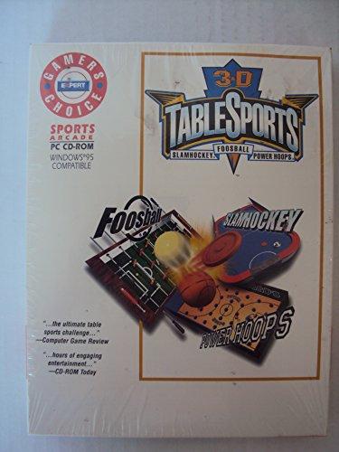 3-D TABLE SPORTS (FOOSBALL-SLAMHOCKEY-POWER HOOPS)(PC CD-ROM)