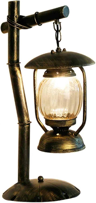 Amerikanische Retro-Schmiedeeisentischlampe kreative Persönlichkeit antike Teetischlampe Cafétischlampe Pferdelampe B07NWTWTK1       Stilvoll und lustig