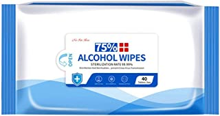 Disinfectant Wipes 40 Sheets/Pack Portable 75 A - l coh o o l Wet Wipes Antiseptic Cleaning Sterilization Wipes Wet Wipes ...