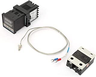 Zestaw regulatora temperatury Keenso AC 110 V-240 V 0-1300 ℃ Zestaw termostatu z cyfrowym regulatorem temperatury PID LED ...