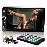 cherryou 17,8cm Lecteur stéréo de voiture Dash Audio avec Bluetooth universel 2DIN HD FM Radio MP5Récepteur d'entrée Carte TF AUX USB écran tactile