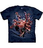 The Mountain womens Octopus Climb T Shirt, Blue, Large US