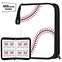 POKONBOY Baseball Card Binder Sleeves for Trading Cards, Baseball Card Sleeves Card Holder Protectors Set for Football Cards and Sports Cards (Holds Up to 400)