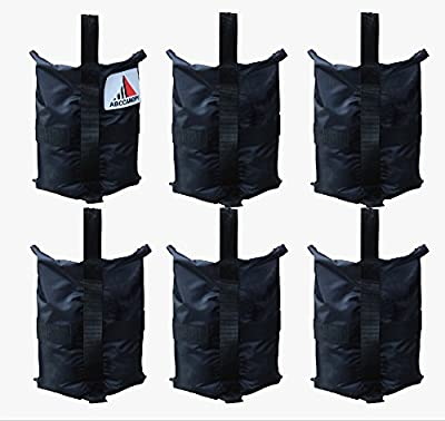 ABCCANOPY Premium Instant Shelters Weight Bags for Pop up Canopy, Outdoor Patio, Backyard - Set of 6-40lb Capacity per Bag