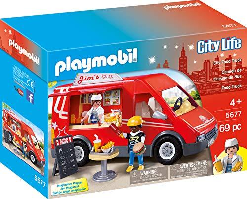 Playmobil- Stadtleben Truck Alimentaire, 5677, Multicolore