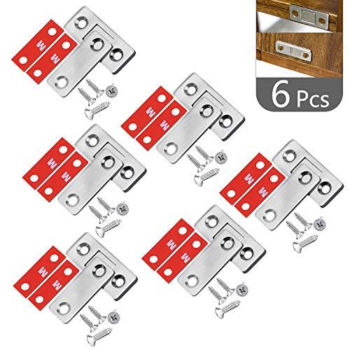 NATEE 6 st. magnetlås lås lås möbelmagnet stark magnetisk låtsdörr låda dörrlås magnetlås med skruvar för skåp balkontdörr skjutdörr magnetlås