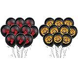 PRETYZOOM 20 Piezas Fiesta de Halloween Globos de Látex Calabaza Sangrienta Mano Globos Decoración de Fiesta para Truco O Juego de Juguetes (Negro Naranja)
