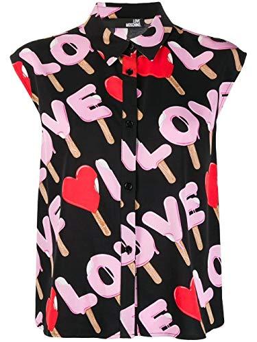 Love Moschino Luxury Fashion Damen WCD1700T99640017 Schwarz Viskose Hemd | Frühling Sommer 20
