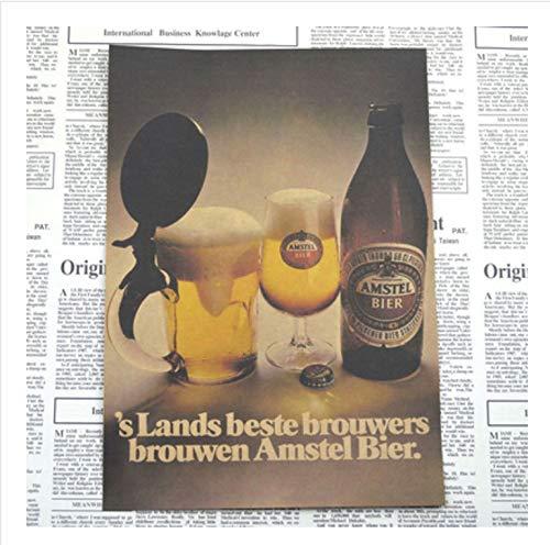 YIGUBIGU Bar Retro Poster Persönlichkeit kreative Bier Getränke Aufkleber Retro Kraftpapier Restaurant Dekoration Gemälde 42 * 30cm