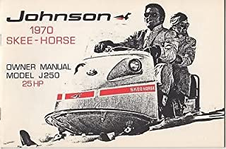1970 JOHNSON SKEE-HORSE SNOWMOBILE OWNERS MANUAL 25HP
