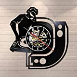 BFMBCHDJ DJ Mixer Musique Disque Vinyle Horloge Murale Décorez Votre Maison avec De La Musique Moderne Art Disc Jockey Mur Montre Party Supplies Décoration
