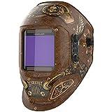 YESWELDER Large Viewing Screen True Color Solar Power Auto Darkening Welding Helmet, 4 Arc Sensor, for TIG MIG Arc Weld Grinding Welder Mask LYG-17800F-ST