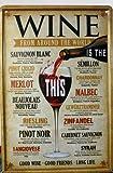 Vintage Style Wine Around the World Retro METAL Wall Poster