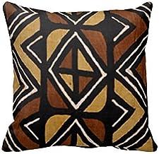 Cotton Linen Square Decorative Throw Pillow Case Cushion Cover 18 x 18 Kenyan Mud Cloth (Adriannaburing)