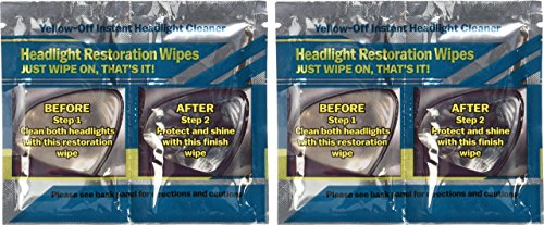 Gelb Aus Scheinwerfer-Reinigungsmittel 2 Sets von Scheinwerfer-Reinigungstücher