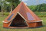 F&zbhzy Tente 5-8 Personnes Mongolie yourte Voyage en Famille randonnée pédestre Anti-Moustique abri auvent auvent Plage Camping en Plein air Tente, Orange