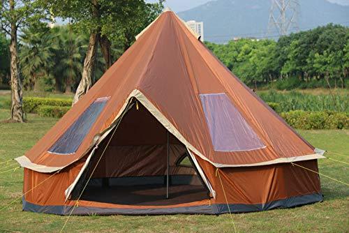 F&zbhzy Zelt 5-8 Personen Mongolei Jurte Familienreise Wandern Anti Moskito Sonnenschutz Markise Baldachin Strand Outdoor Camping Zelt, orange